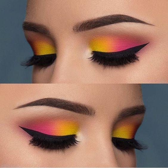 Kolorowy makijaż oczu 2019