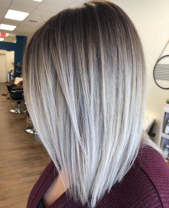 Pomysł na szare włosy
