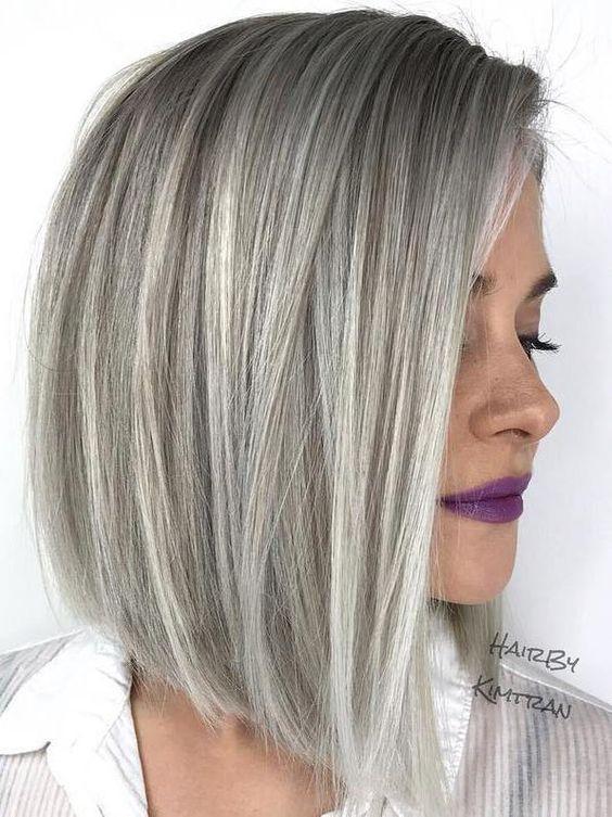 Szare włosy inspiracje