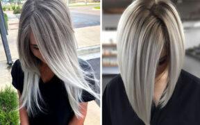 Włosy w odcieniach szarości - 13 gorących inspiracji