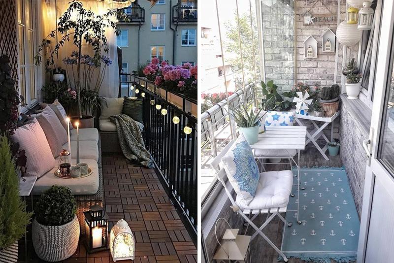 Aranżacja balkonu w bloku - 14 inspiracji na piękny mały balkon